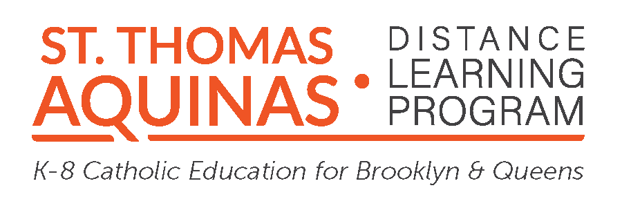 logo for St. Thomas Aquinas Distance Learning Program