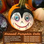 Flyer advertising the annual pumpkin sale and dates
