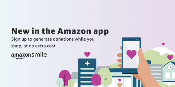 Amazon banner for mobile app donations